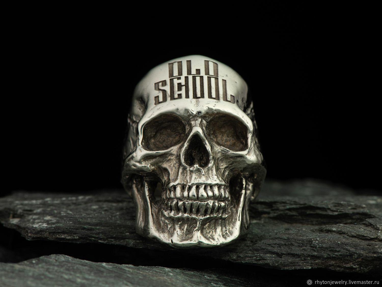 OLD SCHOOL Skull Ring, Ring, Kostroma,  Фото №1
