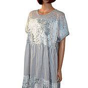 Одежда handmade. Livemaster - original item Long light dress of a free cut