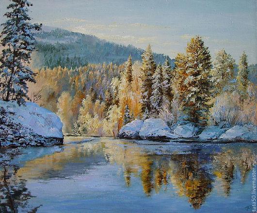 яркие,солнечные отражения в холодной воде.