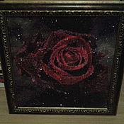 Картины и панно ручной работы. Ярмарка Мастеров - ручная работа Черная роза. Handmade.