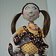Коллекционные куклы ручной работы. Заказать кукла Масяня и  мышка Фрося. Татьяна Козлова. Ярмарка Мастеров. Крыса, хлопок американский