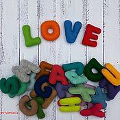 Мягкие игрушки ручной работы. Ярмарка Мастеров - ручная работа Английский алфавит из фетра, разноцветные мягкие буквы, на магнитах. Handmade.