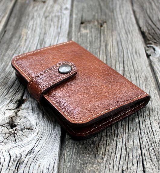 Купить кошелек кожаный, подарок мужу, кожаное портмоне, натуральная кожа, коричневый кожаный кошелек. Мастер Сечкина Юлия http://www.livemaster.ru/v-dome-radosti