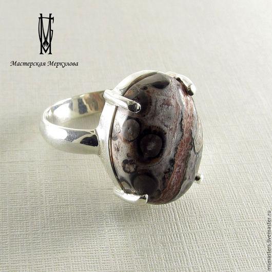 Кольца ручной работы. Ярмарка Мастеров - ручная работа. Купить Перстень с океанической яшмой. Handmade. Серебряный, подарок