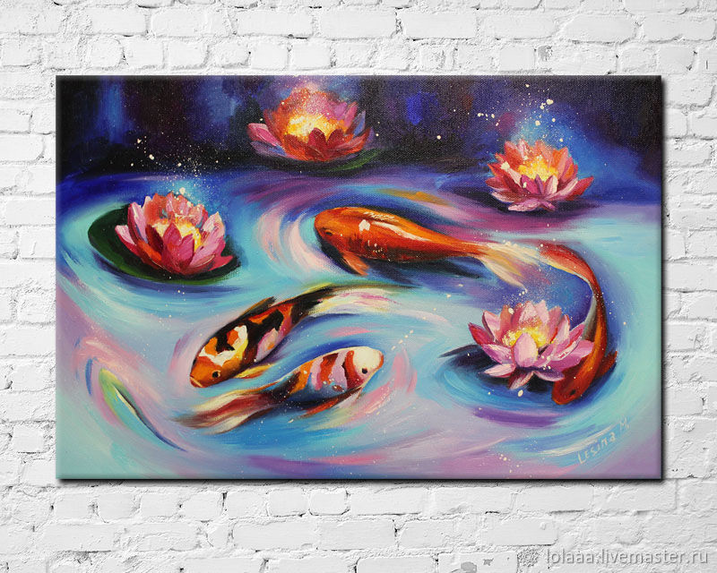 'The magical Koi fish' oil painting on canvas 40/60 cm, Pictures, Sochi,  Фото №1
