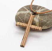 Украшения handmade. Livemaster - original item A simple cross of wood. Handmade.