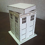 Basket handmade. Livemaster - original item English police box. Handmade.