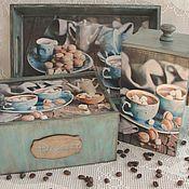 Для дома и интерьера ручной работы. Ярмарка Мастеров - ручная работа Кухонный набор  Кофейный   десерт. Handmade.