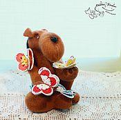 Куклы и игрушки ручной работы. Ярмарка Мастеров - ручная работа Эрдель в бабочках. Handmade.