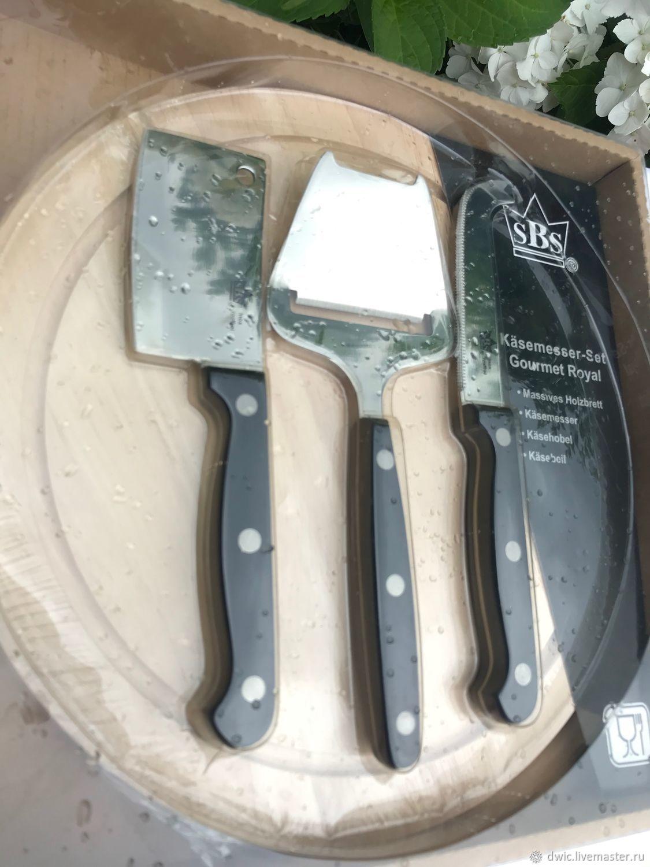 Cheese set with cutting Board, Holland, Vintage Cutlery, Arnhem,  Фото №1