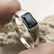 Украшения handmade. Livemaster - original item Ring with non-heated IF Blue Sapphire, 925 silver handmade. Handmade.