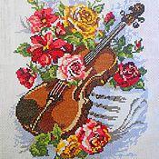 Картины и панно ручной работы. Ярмарка Мастеров - ручная работа Вышитая картина  ВДОХНОВЕНИЕ. Handmade.