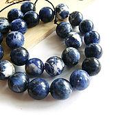 Материалы для творчества handmade. Livemaster - original item Sodalite beads ball 10mm. Handmade.