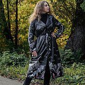 handmade. Livemaster - original item Black original raincoat. Author`s performance.. Handmade.