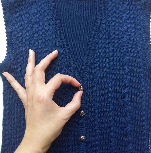Одежда для девочек, ручной работы. Ярмарка Мастеров - ручная работа. Купить Стильная жилеточка в школу для девочки ))). Handmade.