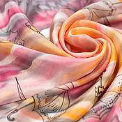 Аксессуары handmade. Livemaster - original item Shawl gray-pink