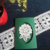 Открытки handmade. Livemaster - original item Lace greeting card