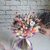 Букеты ручной работы. Ярмарка Мастеров - ручная работа Нежный ароматный букет из сухоцветов Лиловая нежность. Handmade.