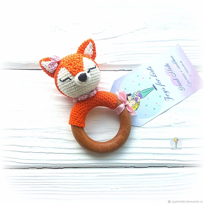 Rattle - teething toy 'Fox', Rattles, Bryansk,  Фото №1
