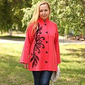 """Одежда handmade. Livemaster - original item Knitted cardigan """"the Firebird"""". Handmade."""