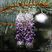 Украшения handmade. Livemaster - original item earrings made of amethyst