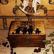 """Для дома и интерьера ручной работы. Ярмарка Мастеров - ручная работа Шкатулка """"Куличики"""". Handmade."""