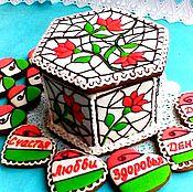 Сувениры и подарки handmade. Livemaster - original item The gingerbread box is hexagonal. Gingerbread Birthday. Handmade.