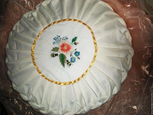 Текстиль, ковры ручной работы. Ярмарка Мастеров - ручная работа. Купить подушка летняя поляна. Handmade. Комбинированный, буфы, паролон