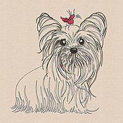 Материалы для творчества handmade. Livemaster - original item Machine Embroidery Design by Yorkshire Terrier bt202. Handmade.