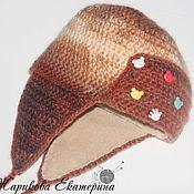 Работы для детей, ручной работы. Ярмарка Мастеров - ручная работа детская шапка ушанка. Handmade.