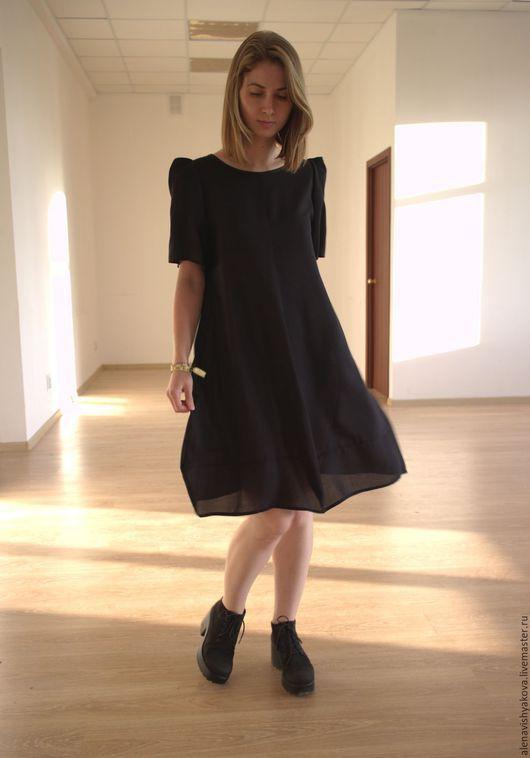 Платья ручной работы. Ярмарка Мастеров - ручная работа. Купить Чёрное платье с углами. Handmade. Черный, дизайнерское платье