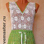 """Одежда ручной работы. Ярмарка Мастеров - ручная работа платье ажурное крючком """"луговые ромашки"""". Handmade."""
