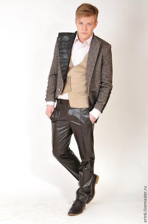 Пиджаки, жакеты ручной работы. Ярмарка Мастеров - ручная работа. Купить Мужской пиджак SALE-70%. Handmade. Коричневый, креатив