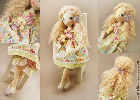 Коллекционные куклы ручной работы. Ярмарка Мастеров - ручная работа. Купить А мне куклу подарили.... Handmade. Разноцветный, блондинка