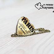 """Украшения ручной работы. Ярмарка Мастеров - ручная работа Медальон-сердце """"Paris"""". Handmade."""