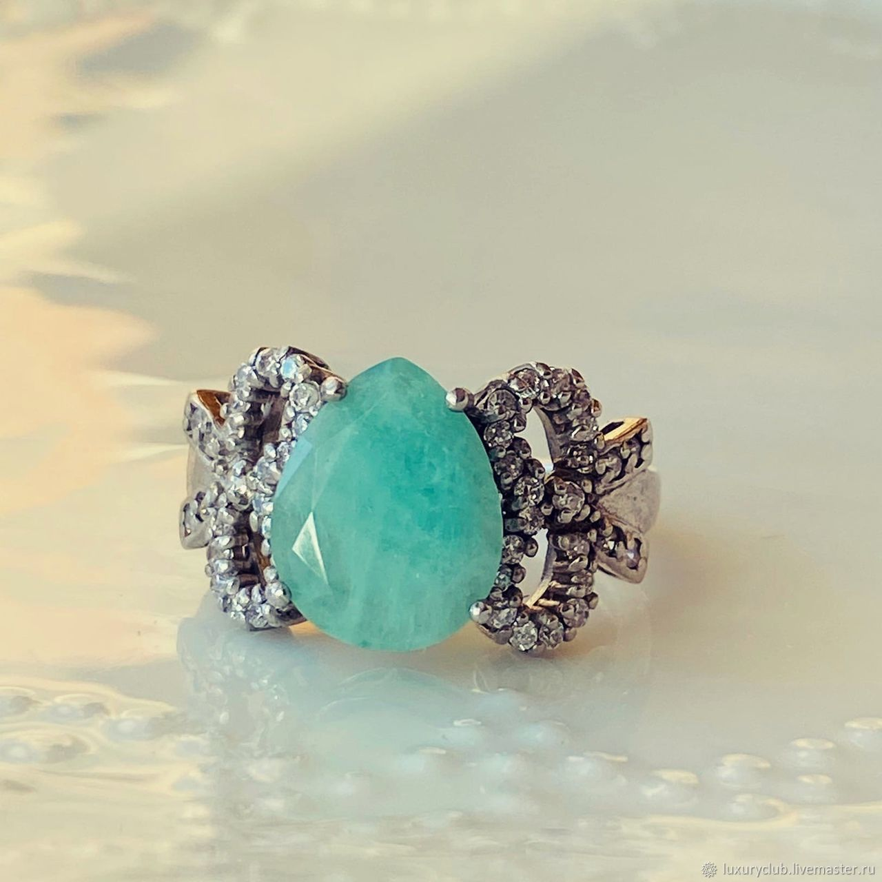 Ring with natural emerald 'Mint' buy, Rings, Tolyatti,  Фото №1