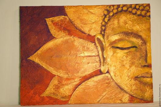Этно ручной работы. Ярмарка Мастеров - ручная работа. Купить Будда. Handmade. Будда, золотой цвет, акрил, индийский стиль