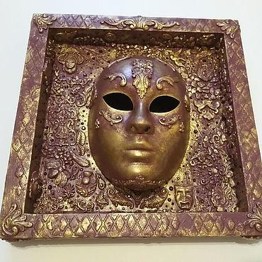 Для дома и интерьера ручной работы. Ярмарка Мастеров - ручная работа Интерьерная маска. Панно. Handmade.