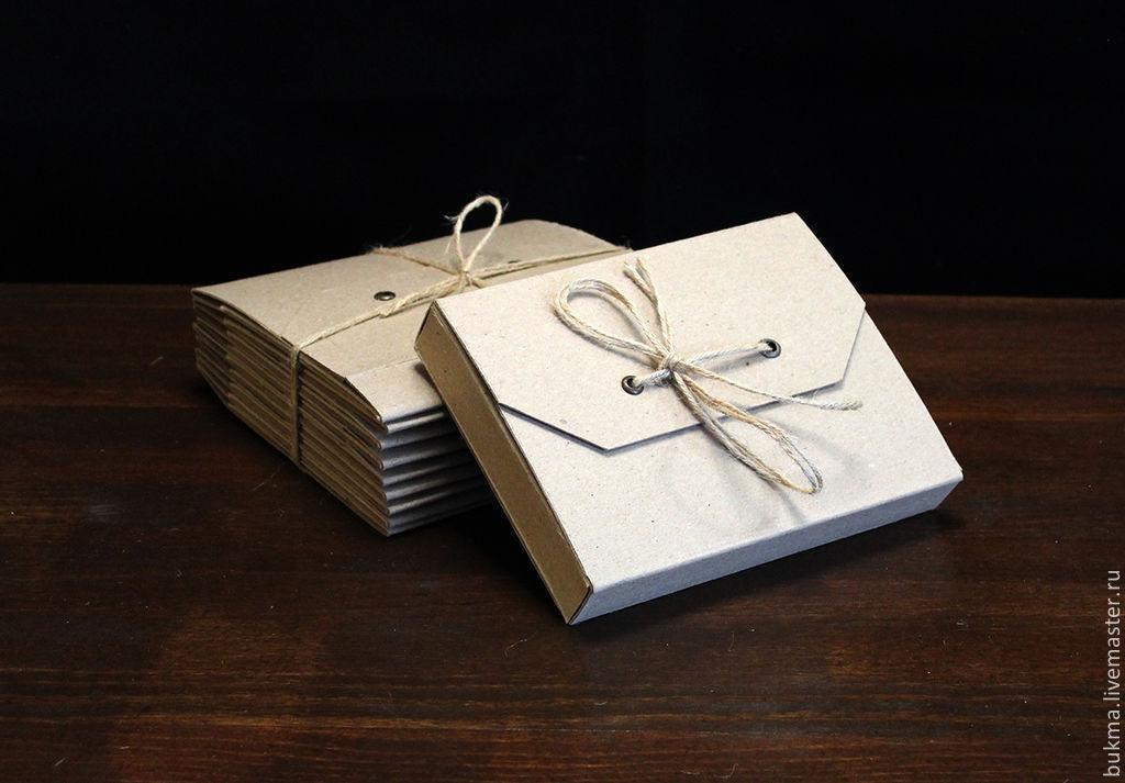 Плоская подарочная коробка или скорее конвертик своими руками