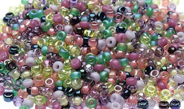 10g Miyuki 11/0 mix 21 garden lavender round Japanese seed beads, Beads, Chelyabinsk,  Фото №1