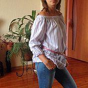 Одежда ручной работы. Ярмарка Мастеров - ручная работа Блузка в полоску. Handmade.