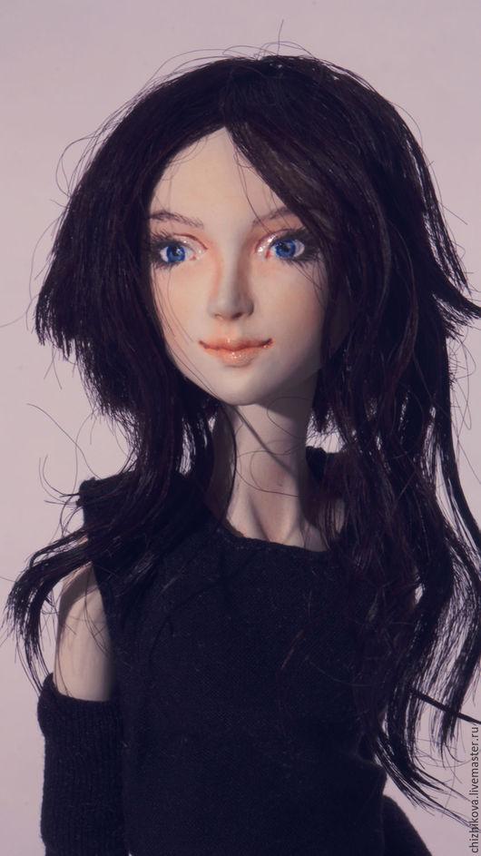 Коллекционные куклы ручной работы. Ярмарка Мастеров - ручная работа. Купить Кайя. Handmade. Черный, ладолл, деревянный сосновый ящик