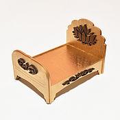 Мягкие игрушки ручной работы. Ярмарка Мастеров - ручная работа Игрушки: Кроватка для кукол.. Handmade.