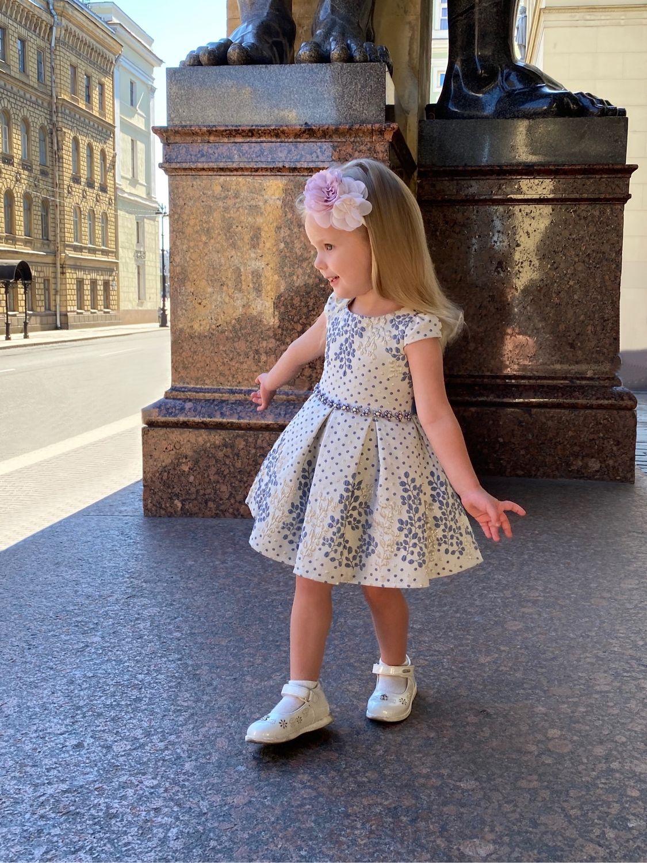 Платье в горошек для девочки с сумочкой, Платье, Санкт-Петербург,  Фото №1