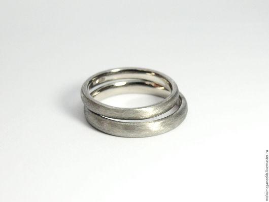 Кольца ручной работы. Ярмарка Мастеров - ручная работа. Купить Обручальные кольца из Палладия. Handmade. Серый, свадебное украшение