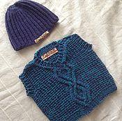 Работы для детей, ручной работы. Ярмарка Мастеров - ручная работа Комплект жилетка и шапочка. Handmade.