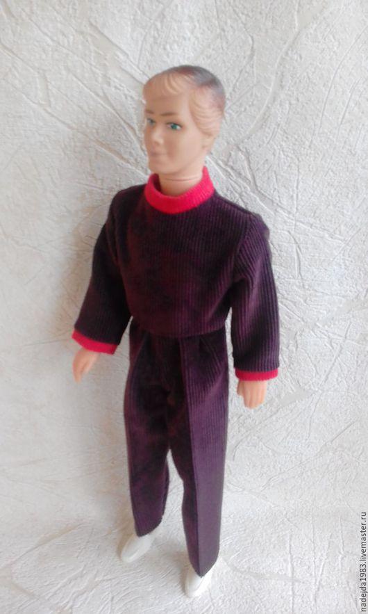 Одежда для кукол ручной работы. Ярмарка Мастеров - ручная работа. Купить Комбинезон для Кена. Handmade. Коричневый, брюки для кена