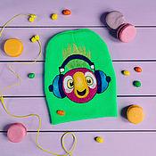 Аксессуары ручной работы. Ярмарка Мастеров - ручная работа Попугай Кеша, шапка с попугаем, войлочный попугай. Handmade.
