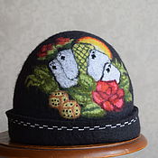 """Для дома и интерьера ручной работы. Ярмарка Мастеров - ручная работа шапка для бани """"Карты"""". Handmade."""