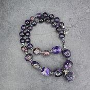 Украшения handmade. Livemaster - original item Author`s necklace natural stone amethyst with a pendant. Handmade.